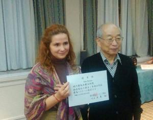 Hiroshi Doi sensei & Irina Roman - Madrid